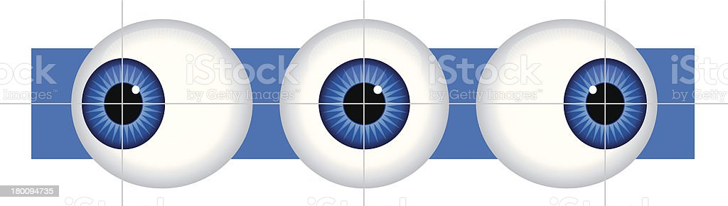 Eye Exam royalty-free stock vector art