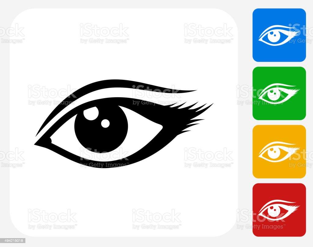 Eye Icon Flat Graphic Design vector art illustration