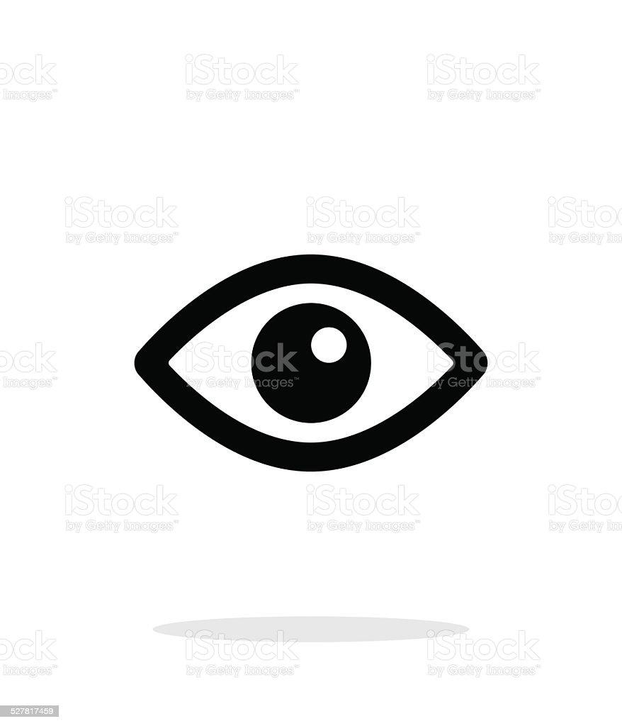 Eye icon on white background. vector art illustration