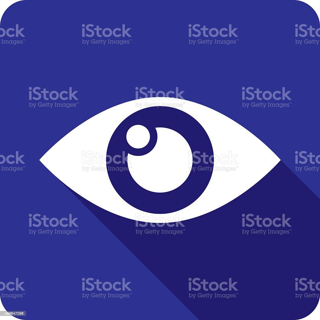Eye Icon Silhouette vector art illustration