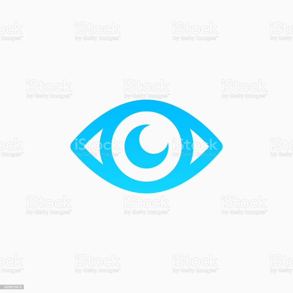 Eye icon vector art illustration