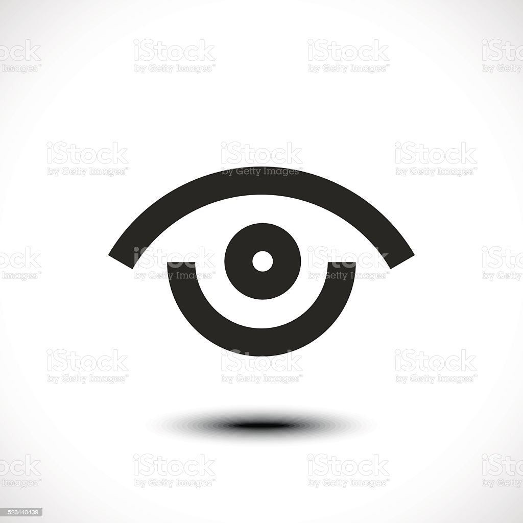 Eye icon vector art illustration