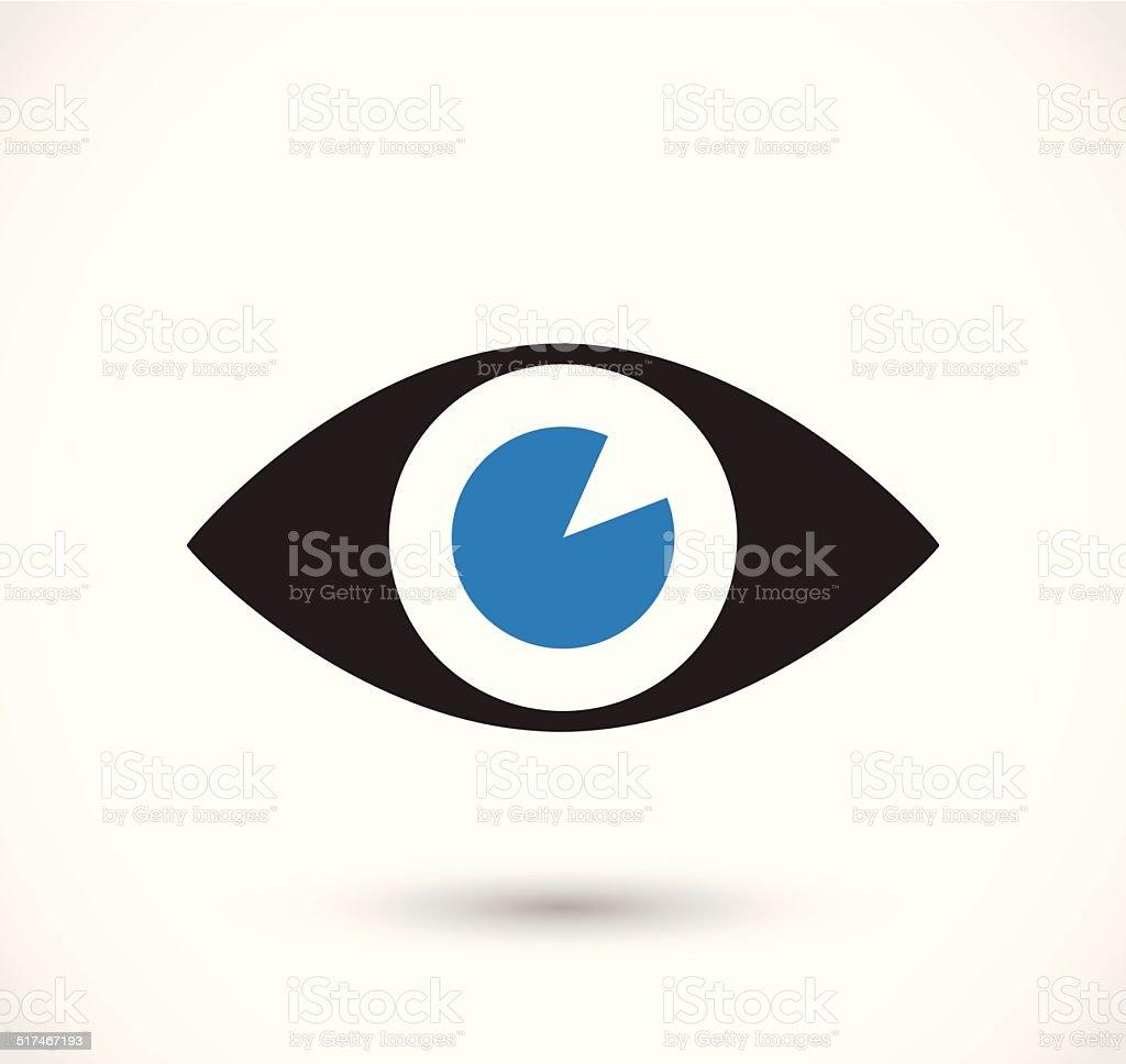 Eye icon vector vector art illustration
