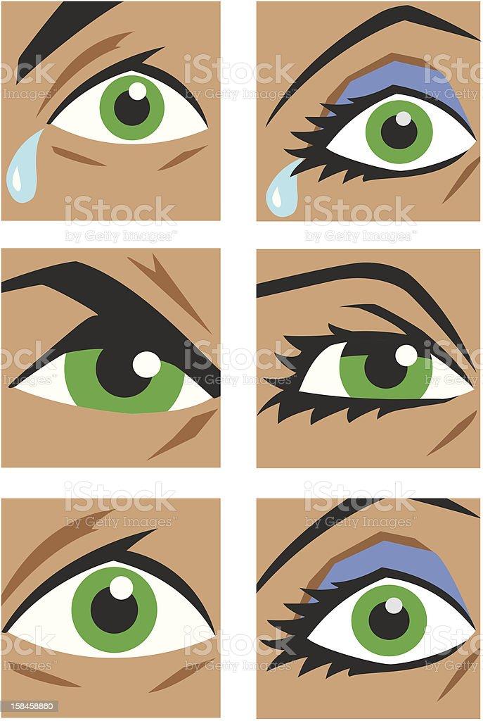 Eye icons royalty-free stock vector art