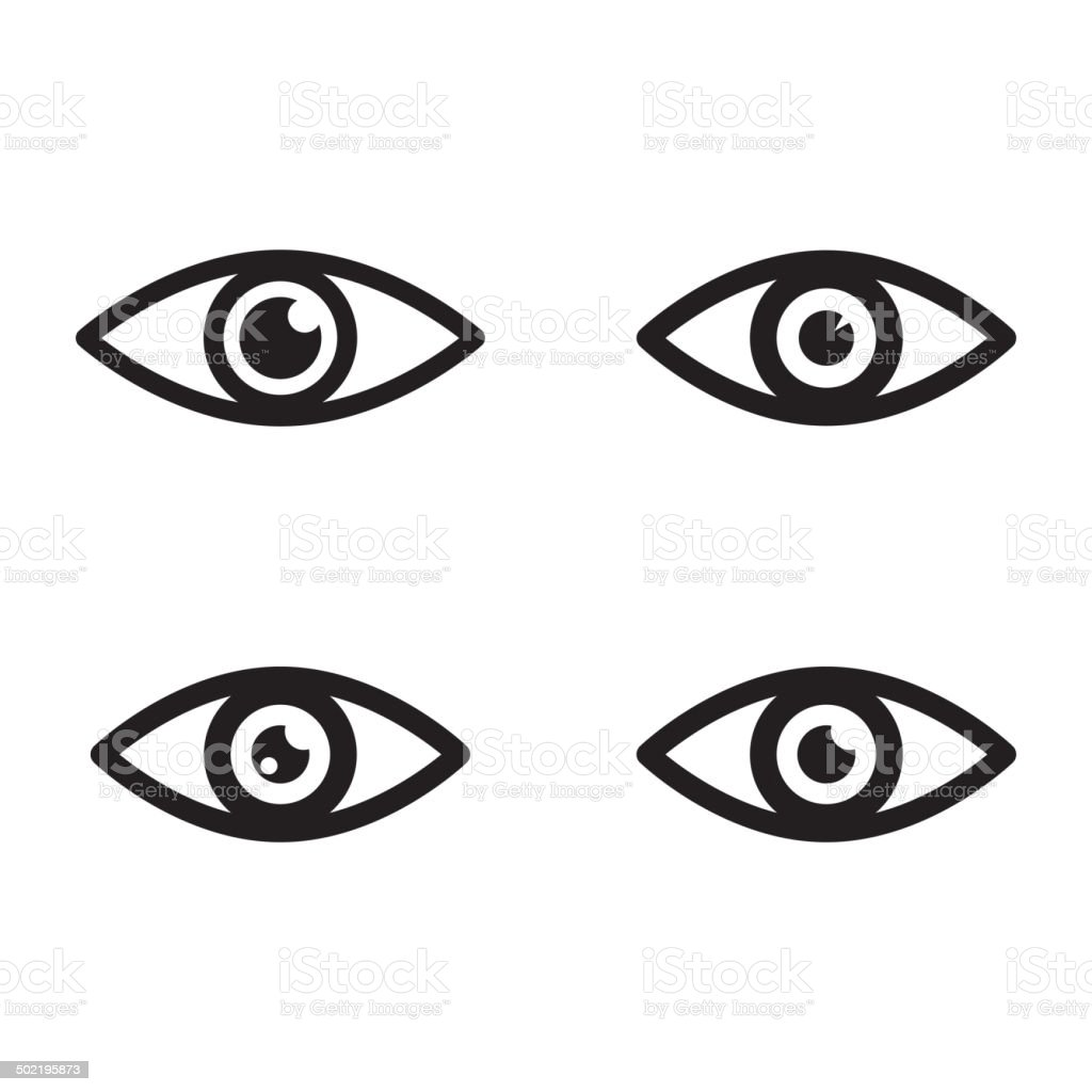 eye icons vector art illustration