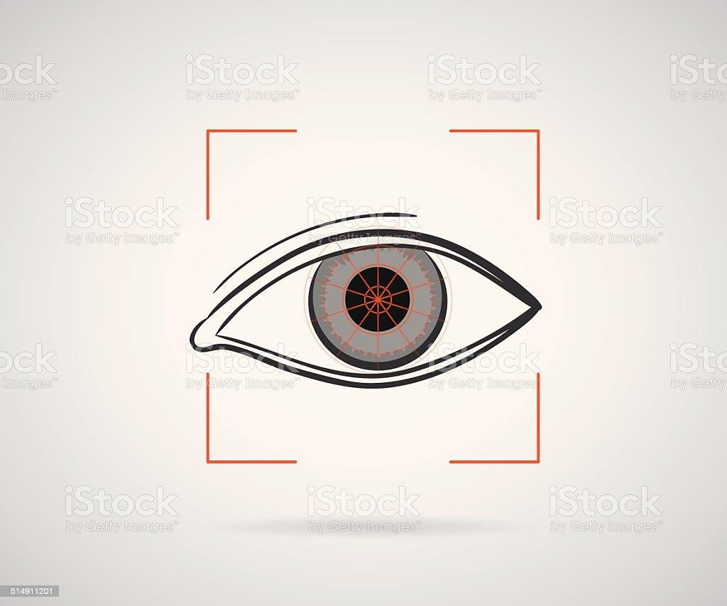 Eye identification vector art illustration