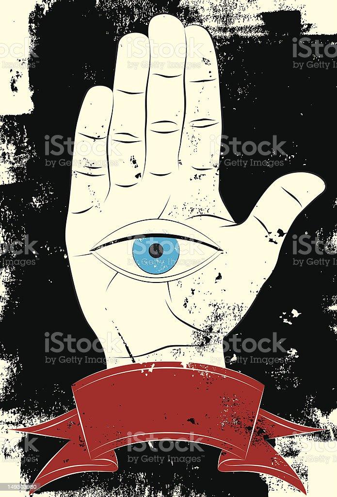 eye in hand royalty-free stock vector art
