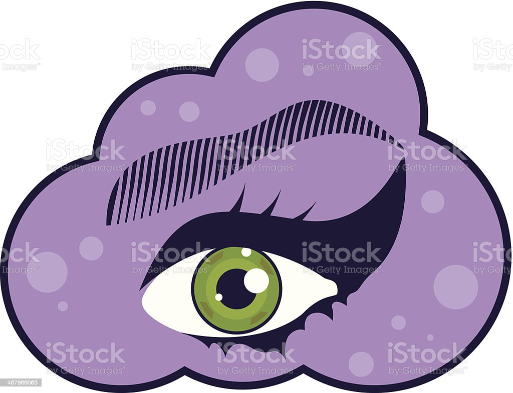 Eye in the Sky royalty-free stock vector art