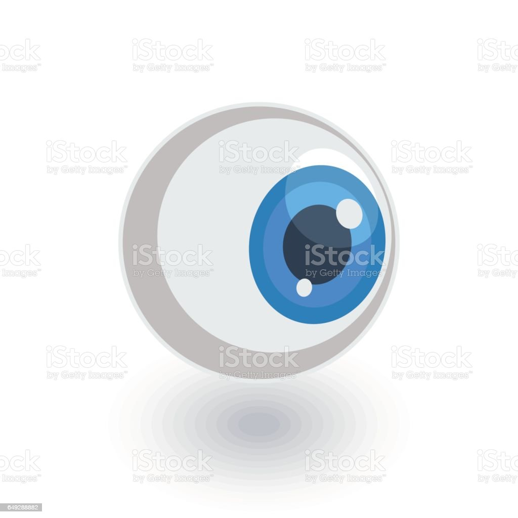eye isometric flat icon. 3d vector vector art illustration