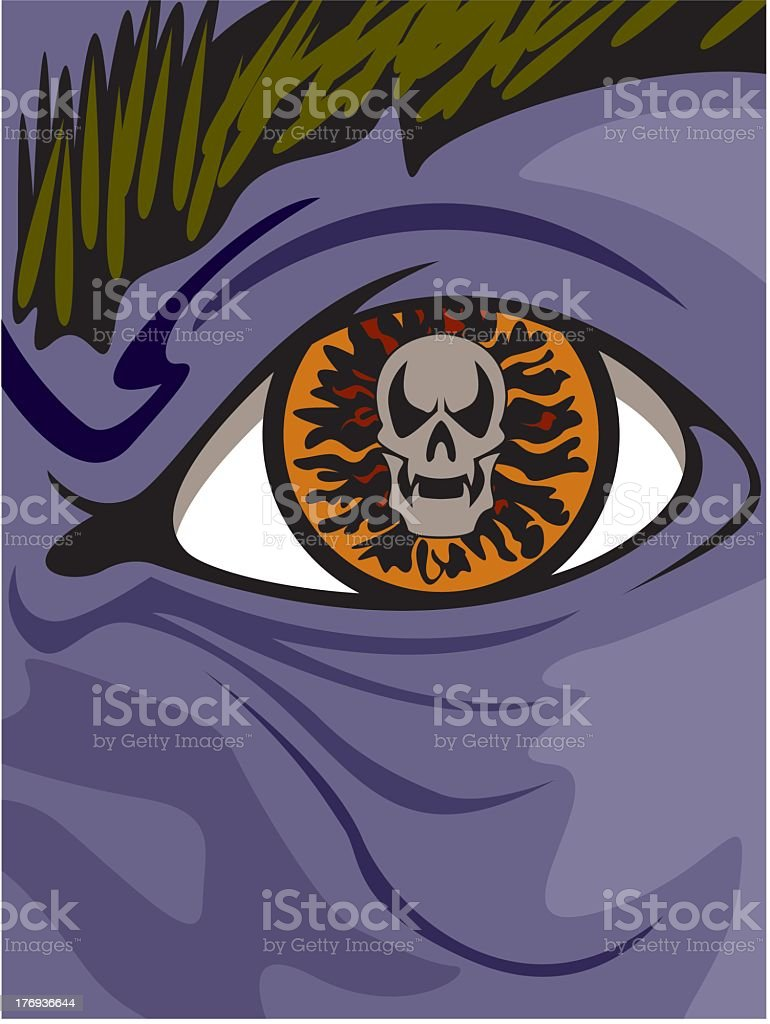 Eye of Death royalty-free stock vector art