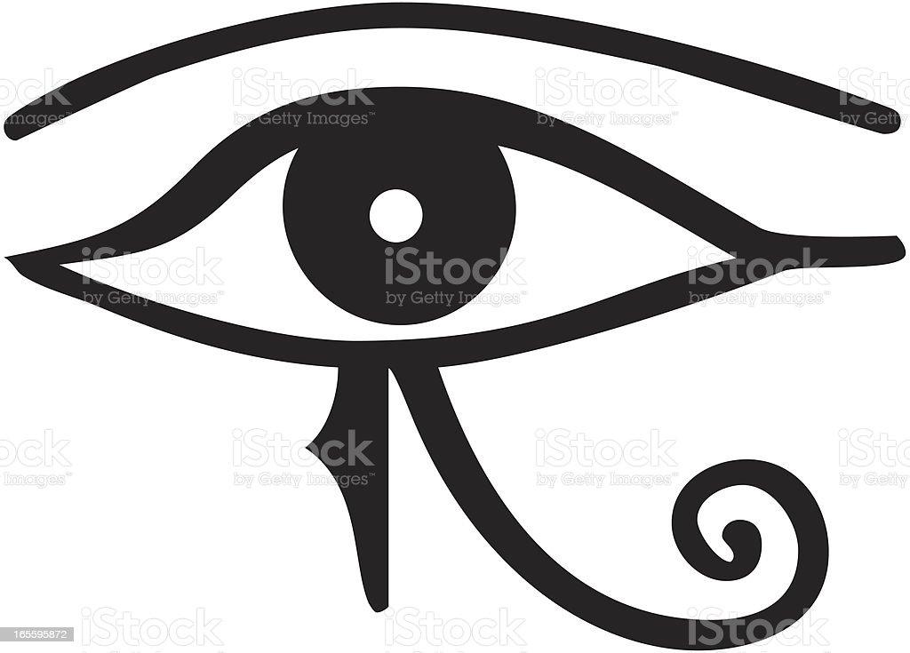 eye of horus royalty-free stock vector art