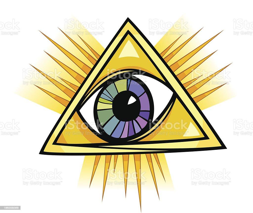 eye of providence illustration royalty-free stock vector art