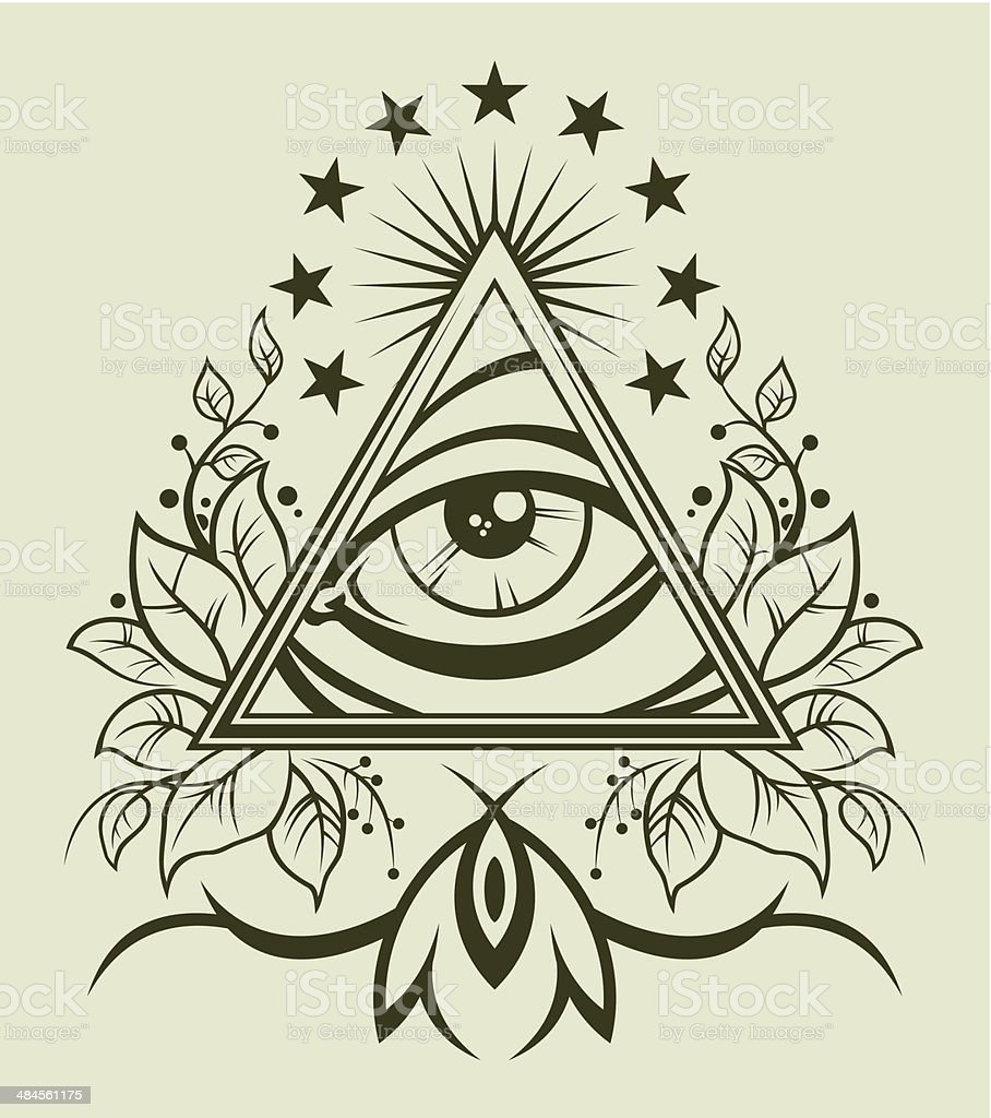 Eye of Providence vector art illustration