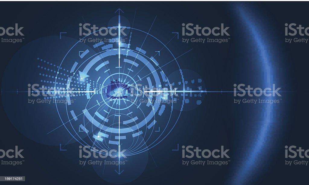 eye of technology vector art illustration