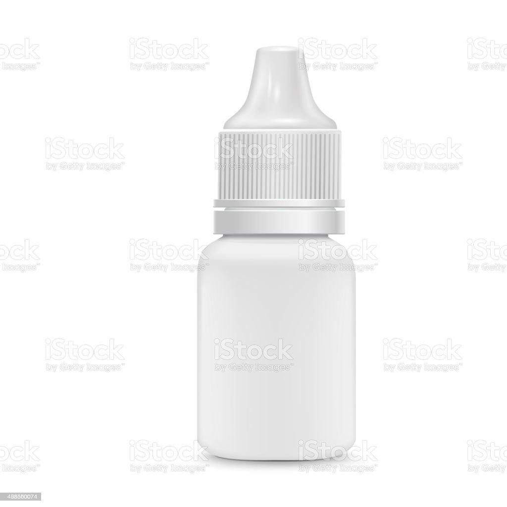 eye or ear drops bottle vector art illustration