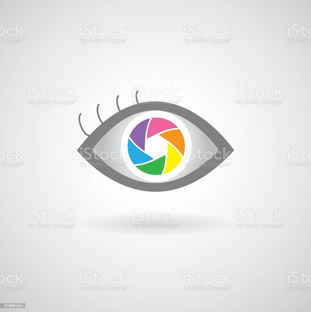 eye  shutter icon design vector art illustration