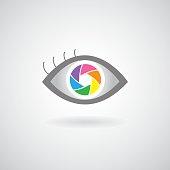 eye  shutter icon design