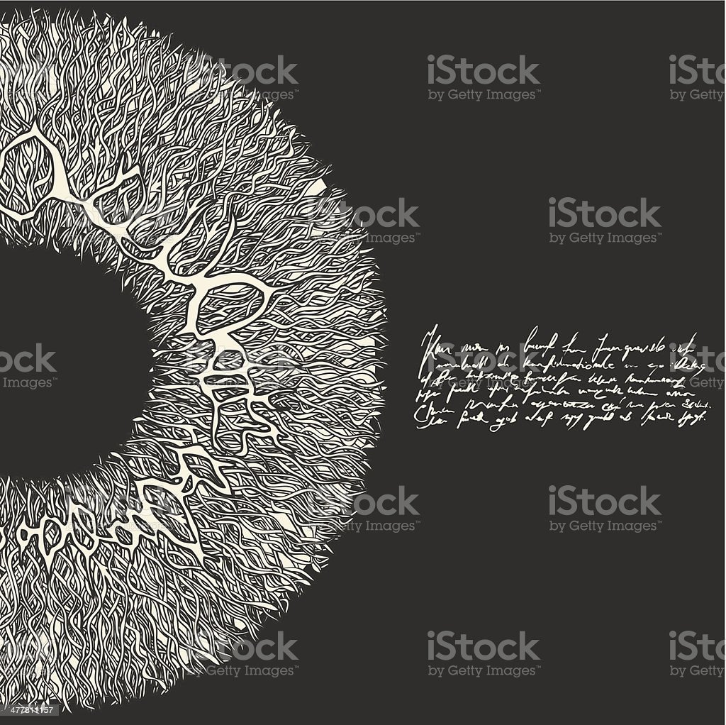 Eye Sun. vector art illustration