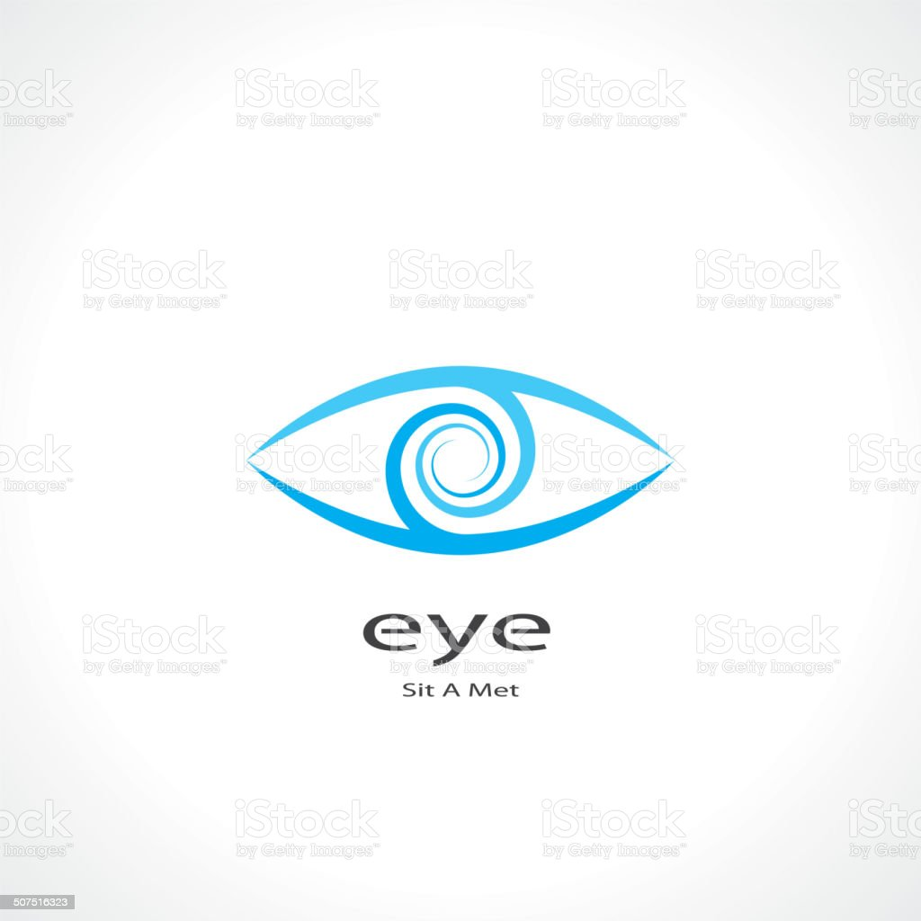 eye symbol vector art illustration