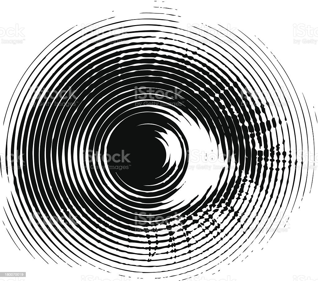 Eye Terrified vector art illustration