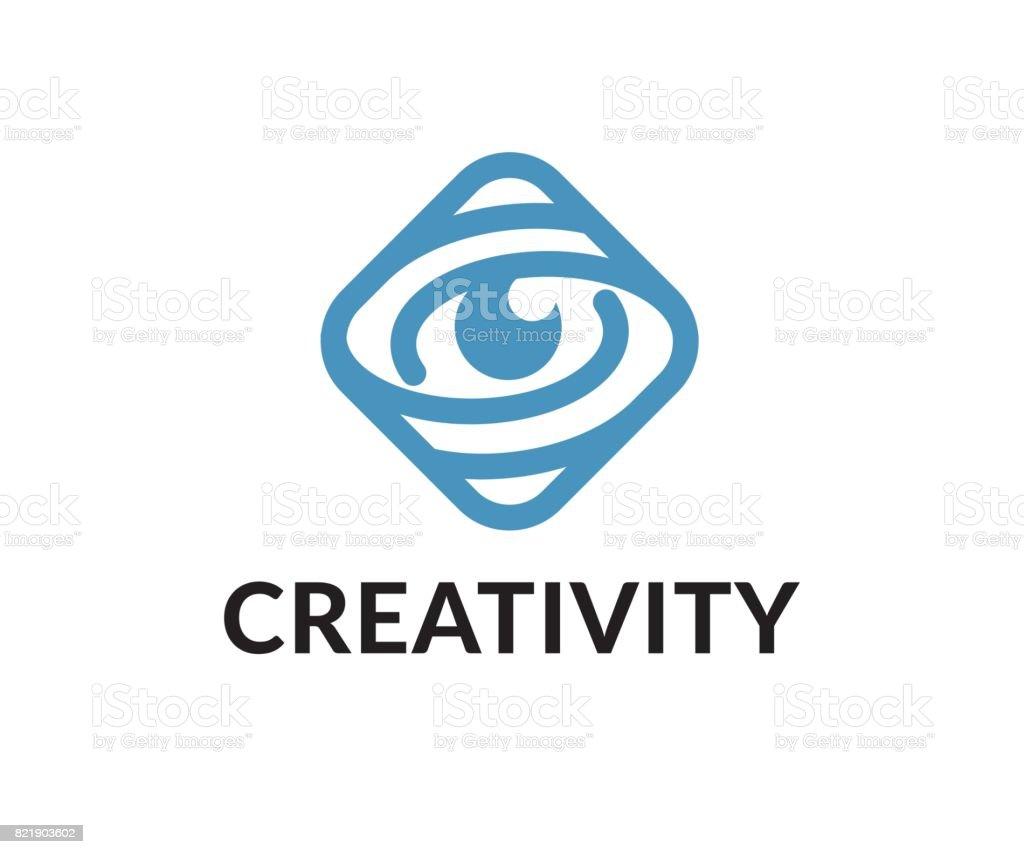Eye vector icon vector art illustration
