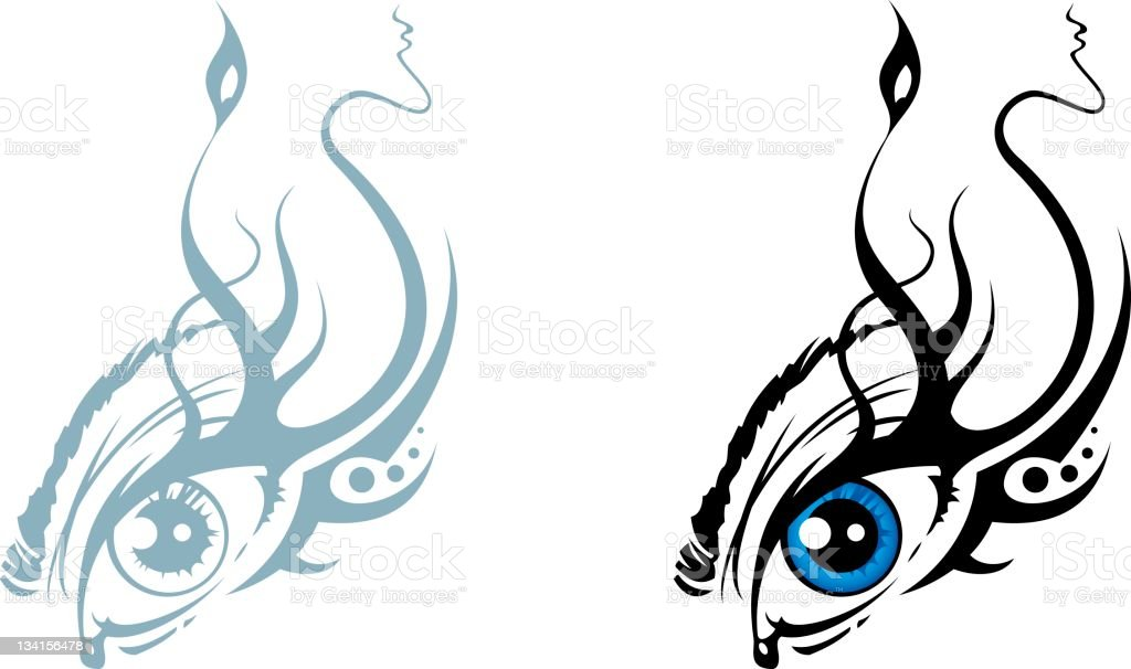 Eye (stylized sketch) royalty-free stock photo