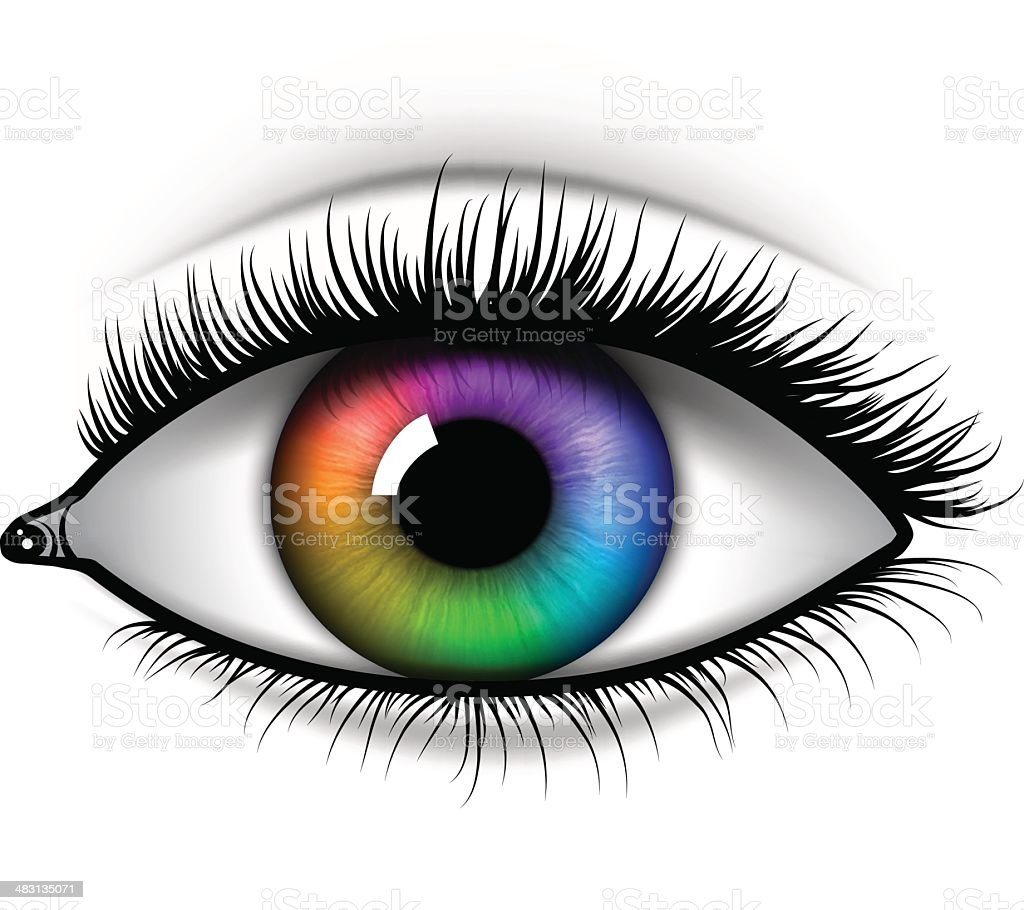 Eye vector art illustration