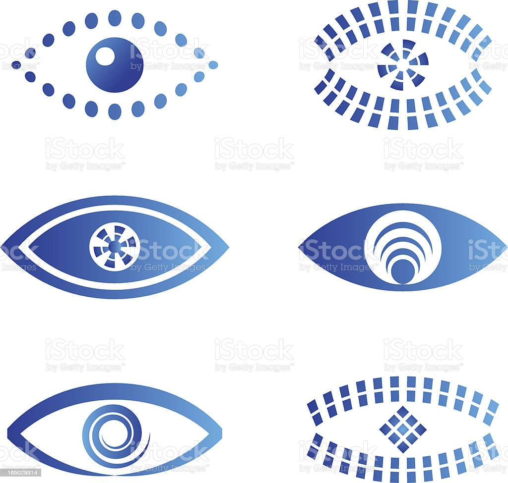 Eye - vector symbols 2 royalty-free stock vector art