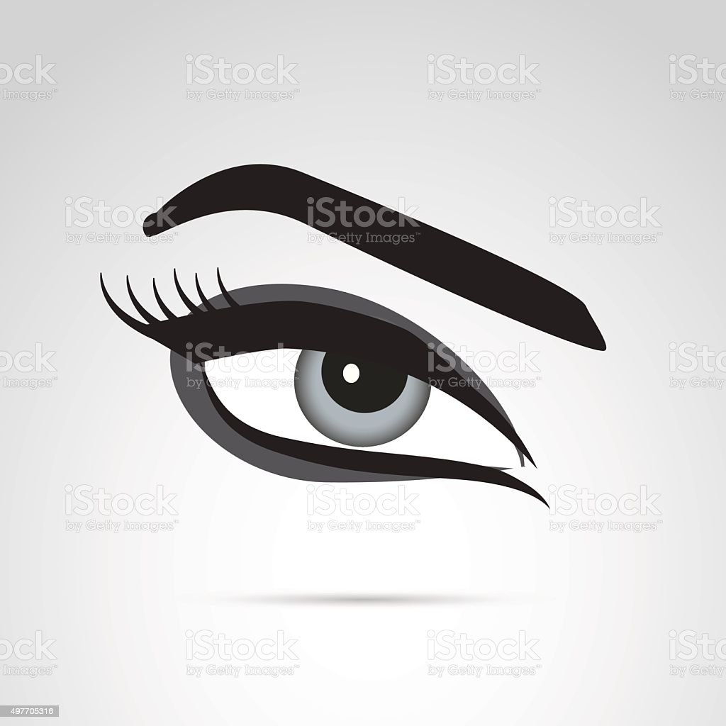 Eye with make up icon. vector art illustration