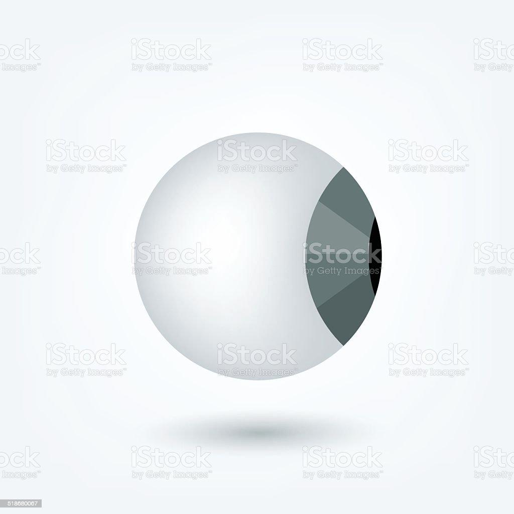 Eyeball 3 D icon. Vector medical sign shape. vector art illustration