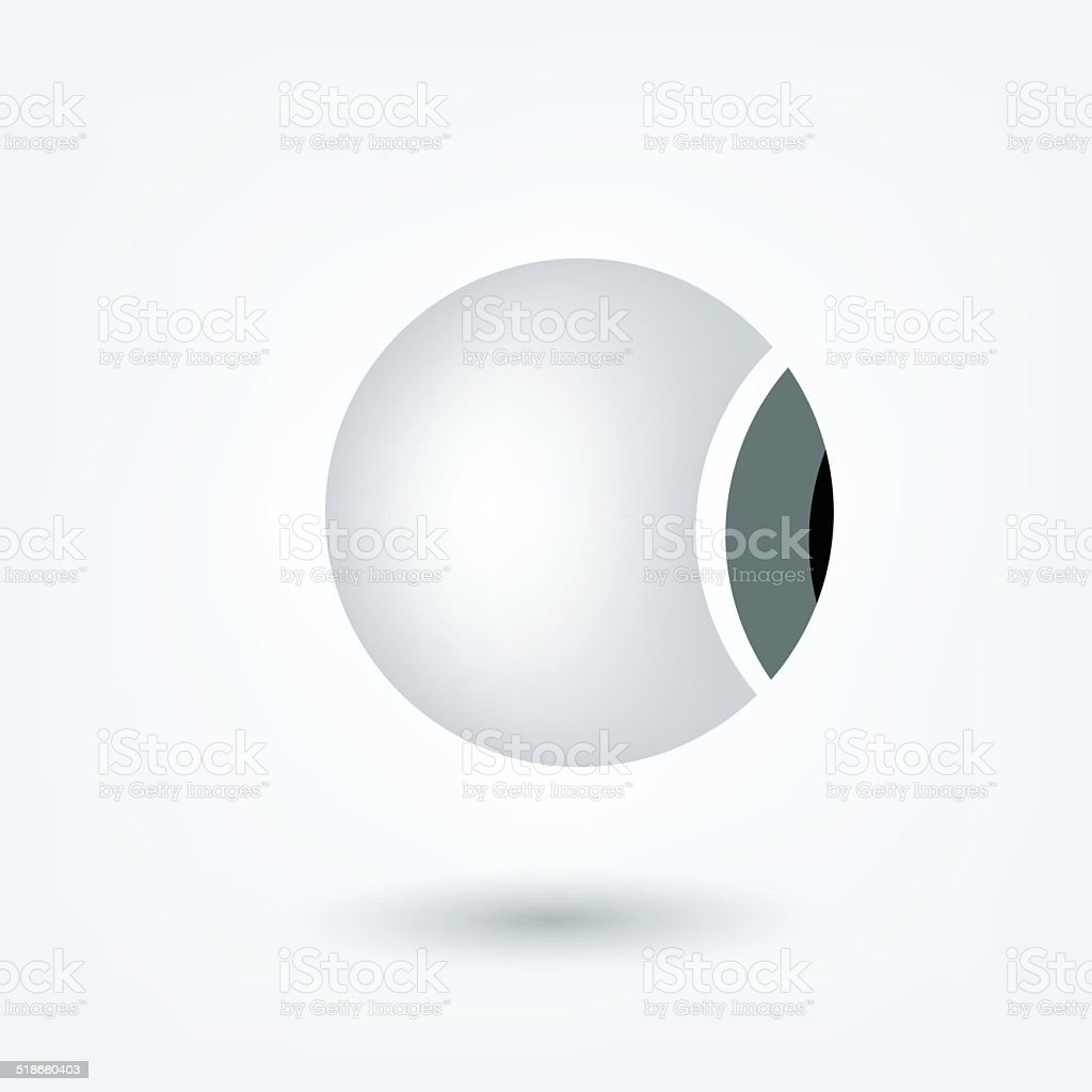 Eyeball 3 D icon. Vector sign medical shape. vector art illustration