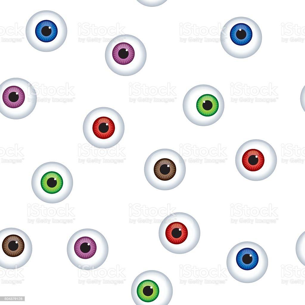 Eyeball Pattern vector art illustration