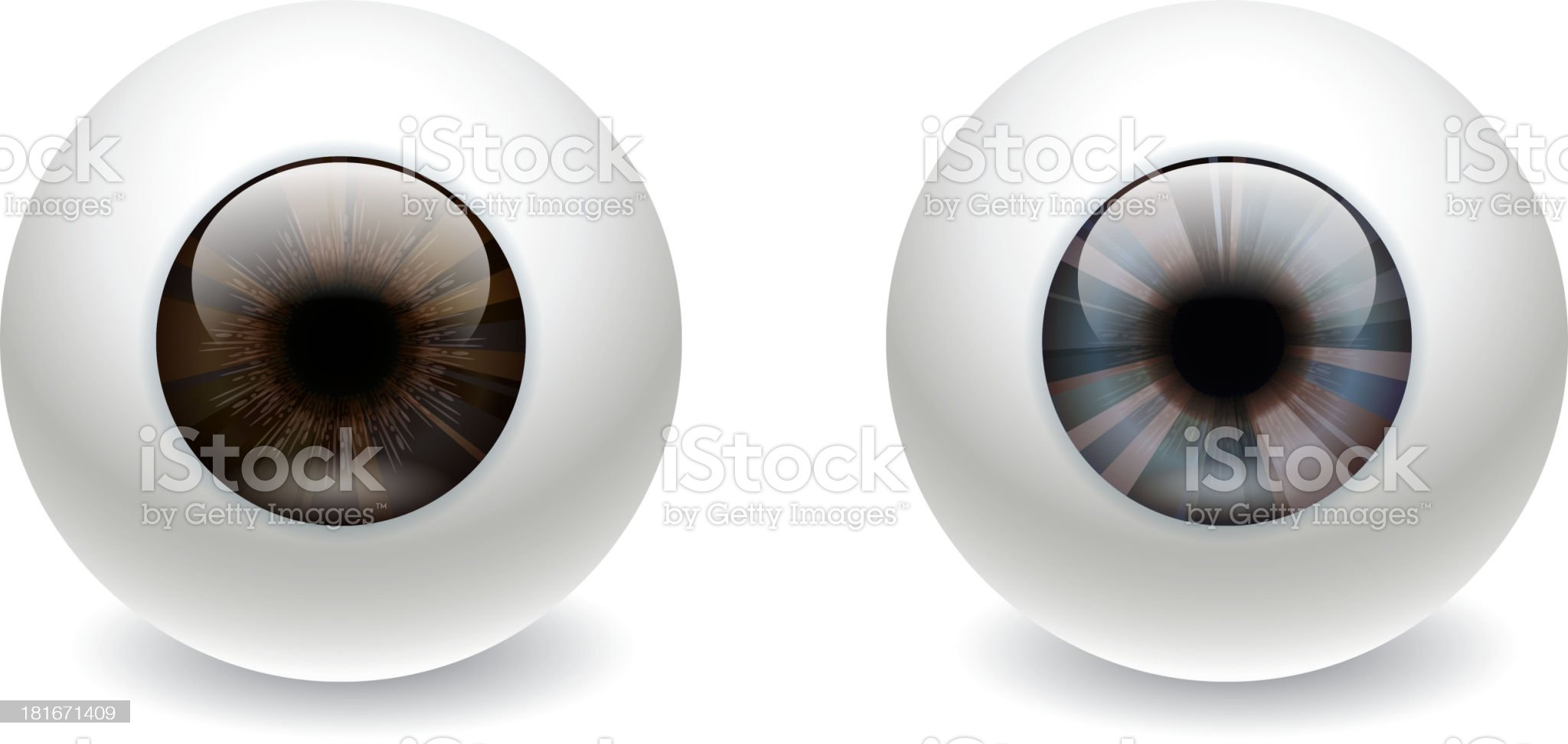 Eyeball royalty-free stock vector art
