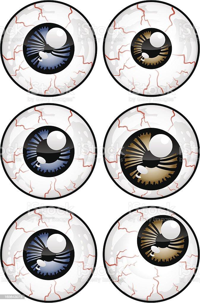 Eyeballs royalty-free stock vector art