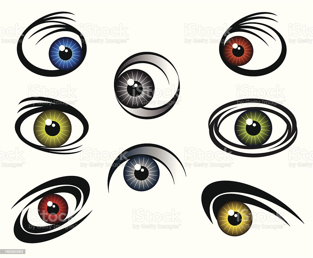 Eyecatchers royalty-free stock vector art