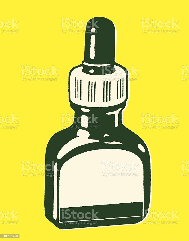 Eyedropper Bottle vector art illustration
