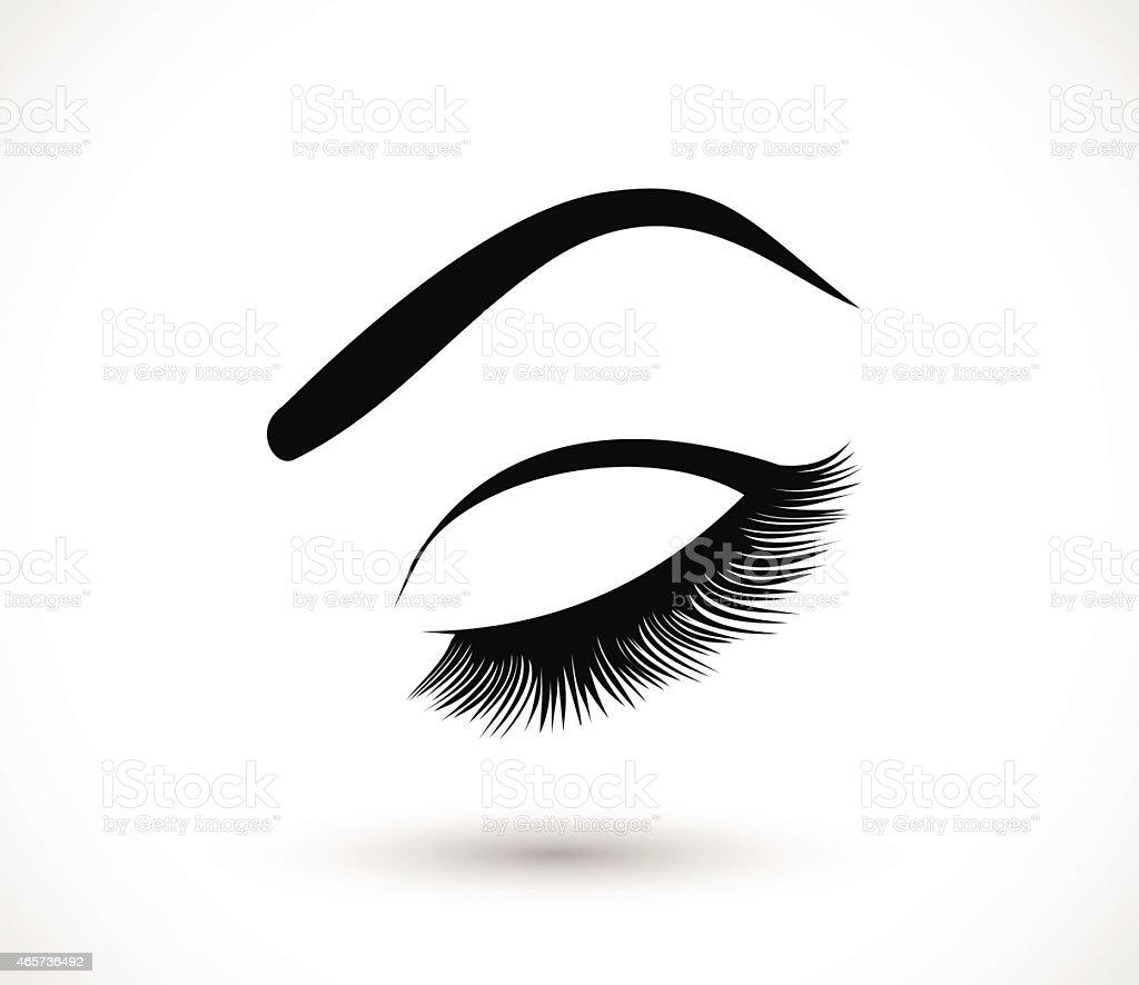 Eyelashes and eyebrows vector illustration vector art illustration