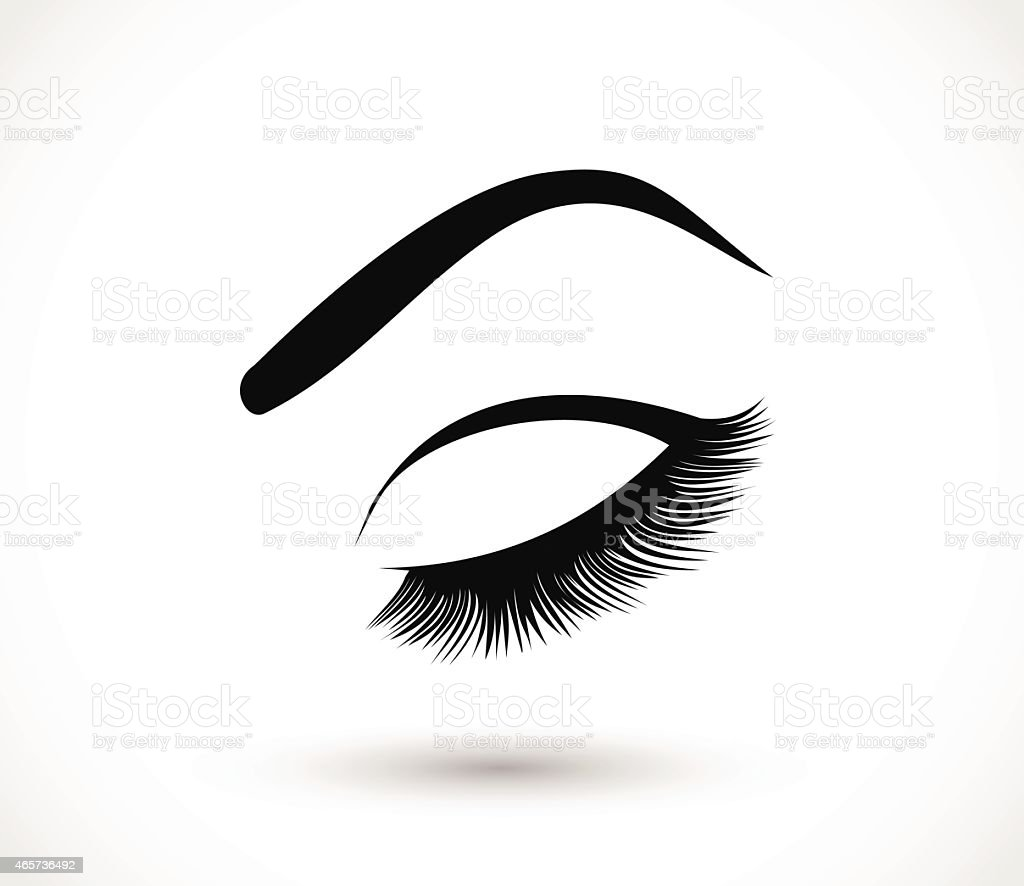 Eyelashes and eyebrows vector illustration vector art illustration