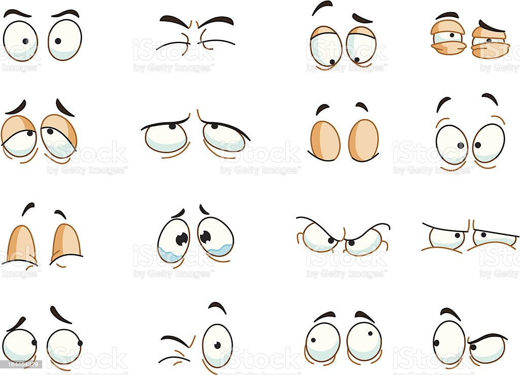 Eyes expressions vector art illustration