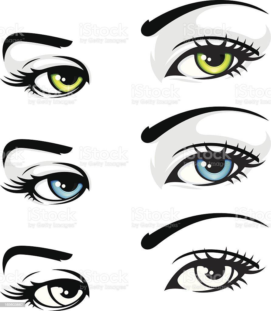 Eyes Like Us vector art illustration