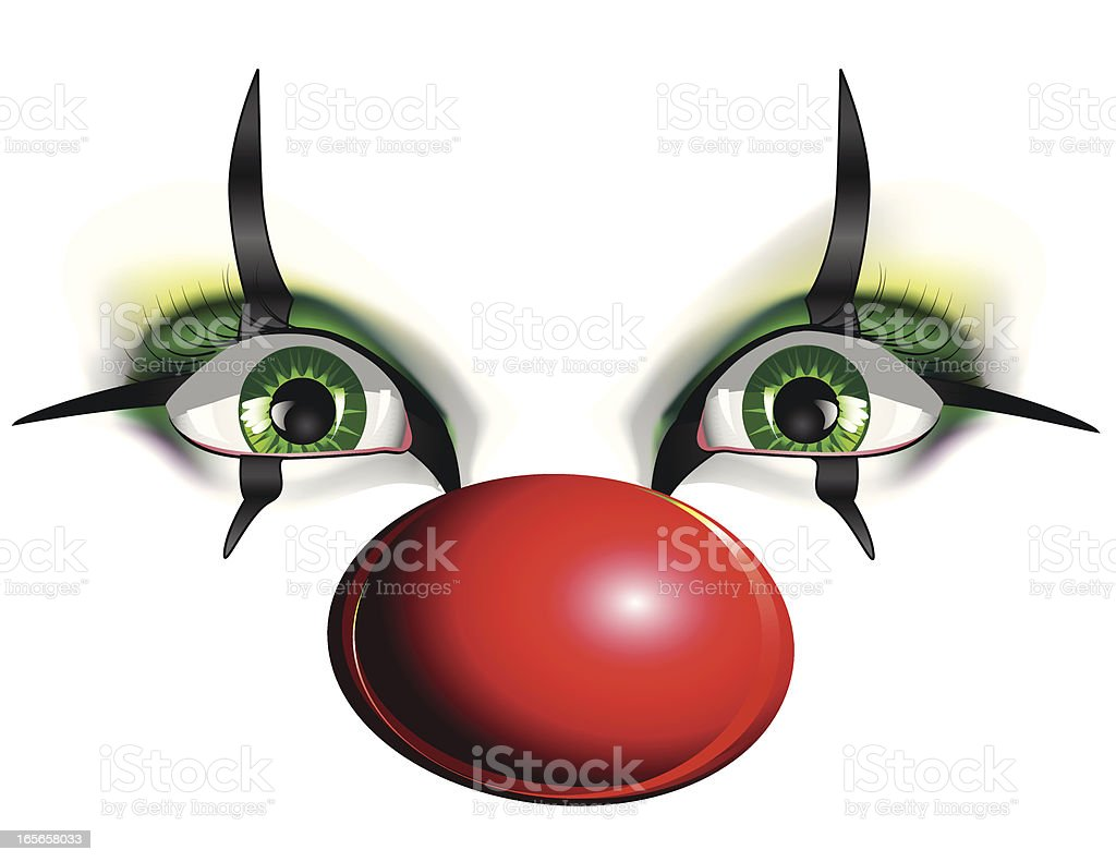 Eyes of a Clown vector art illustration