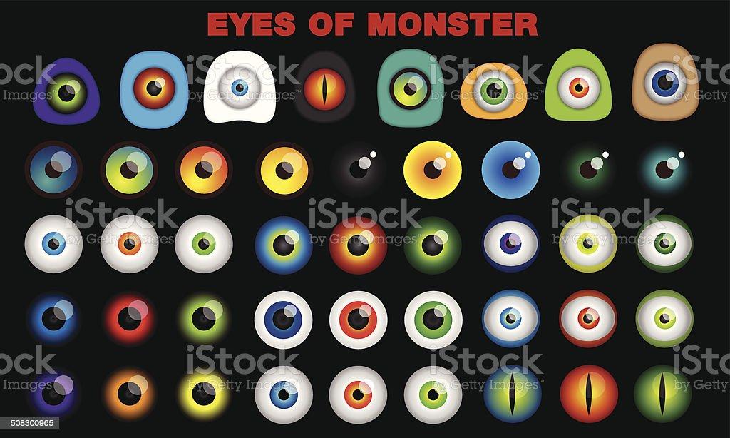 eyes of monster vector art illustration