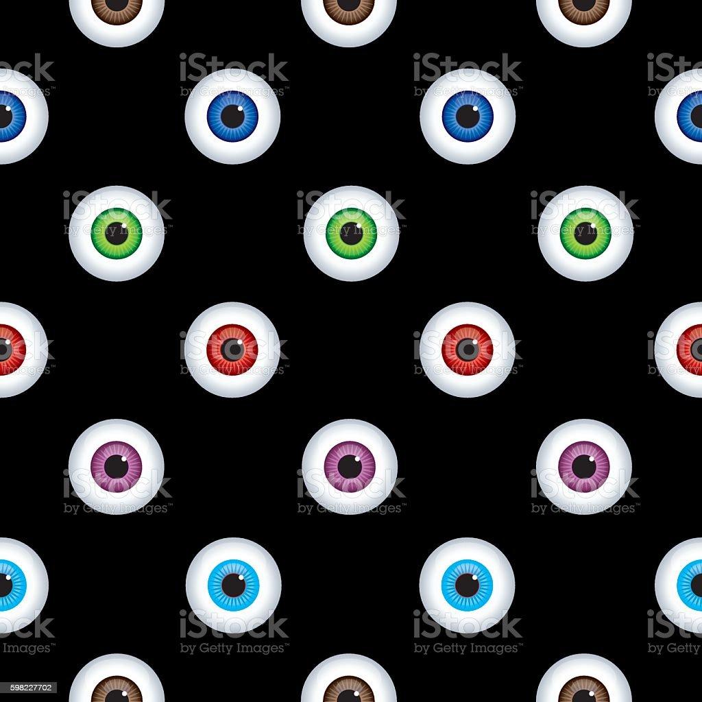 Eyes Seamless Pattern vector art illustration