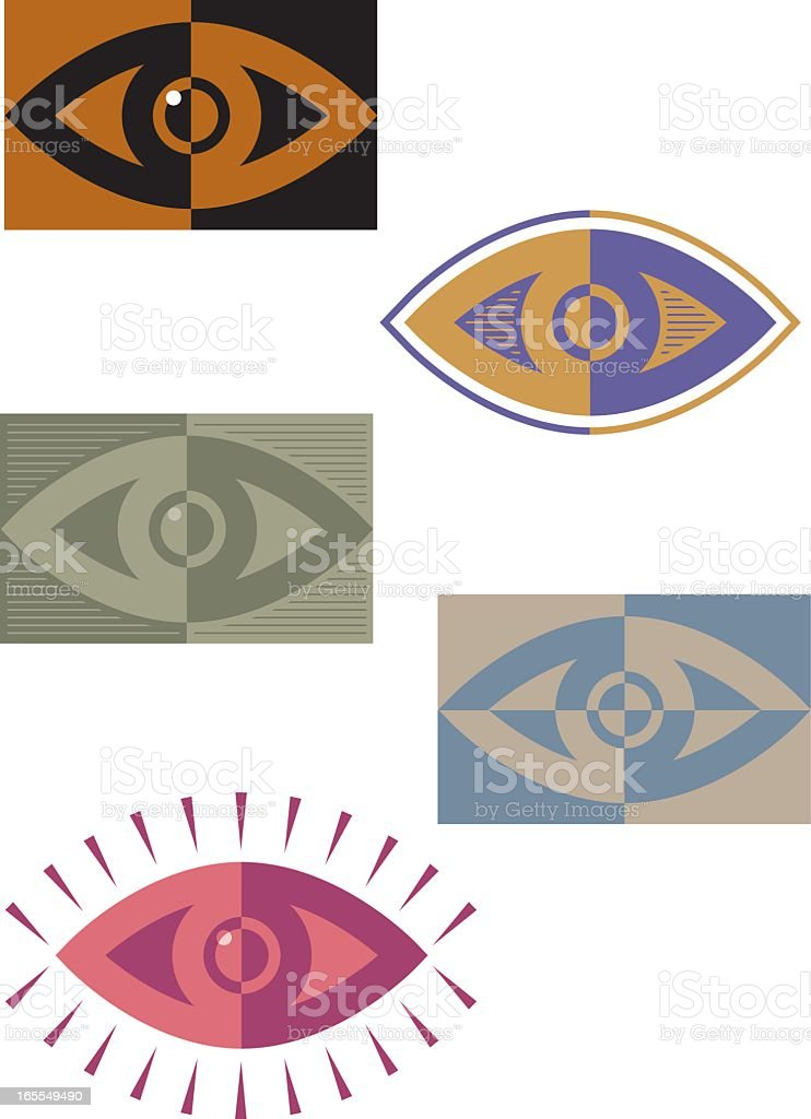 Eyes stylized vector graphics on white background royalty-free stock vector art
