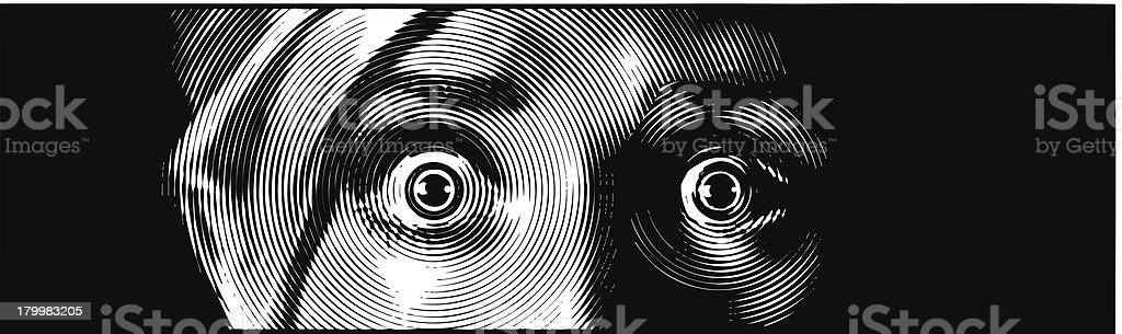 Eyes Terrified vector art illustration