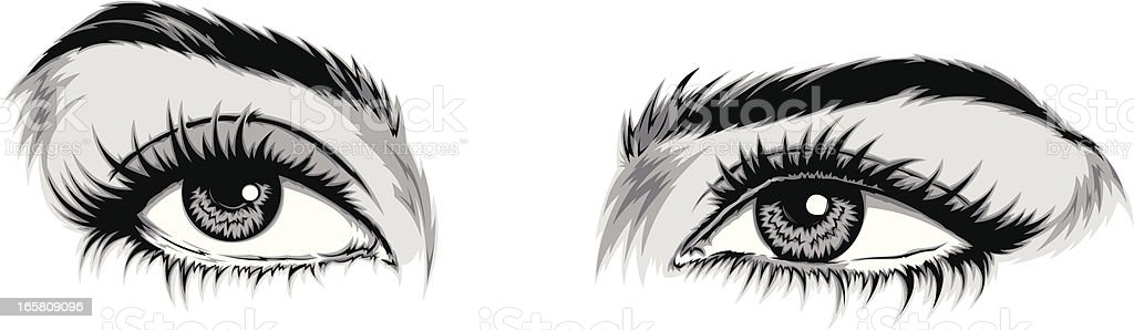 Eyes vector art illustration