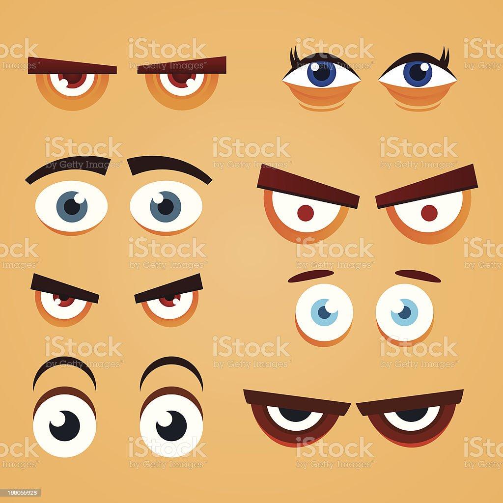 Eyes vector art illustration