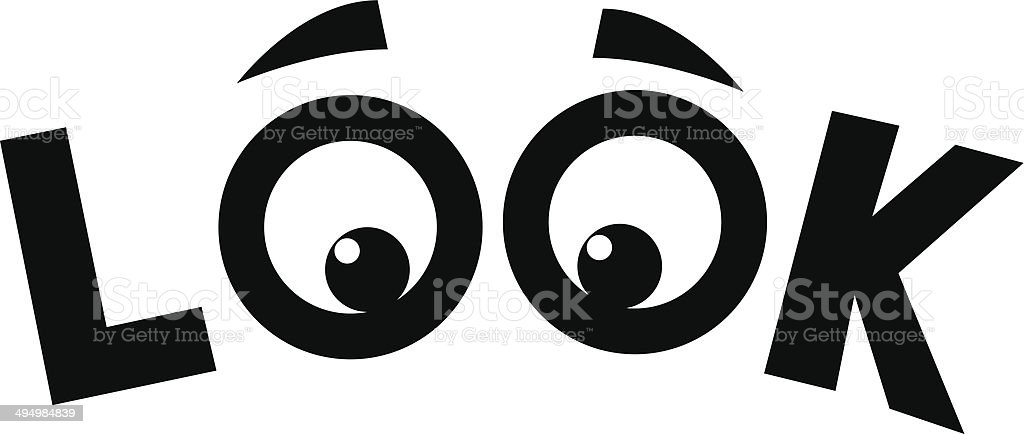 LOOK eyes vector art illustration