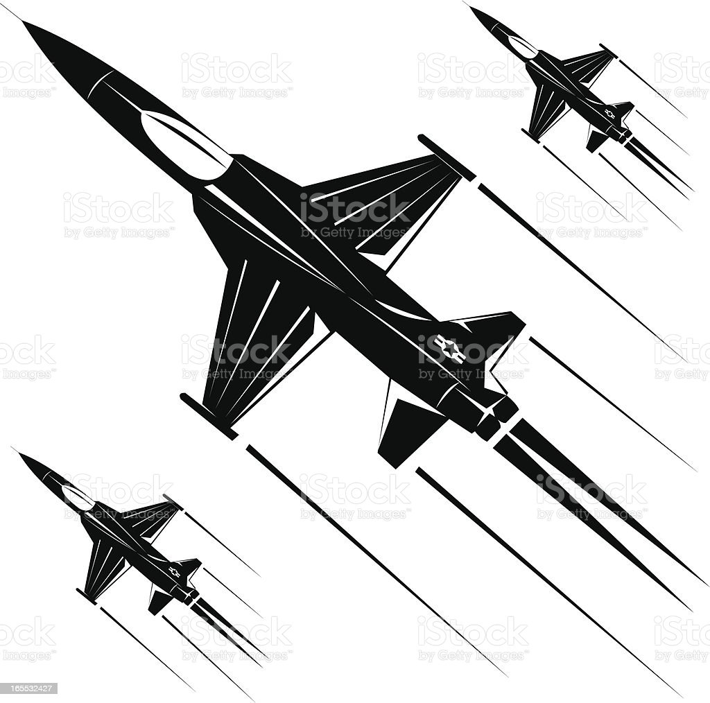 F-5a freedom fighter III vector art illustration
