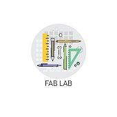 Fab Lab Modern Technology Device Icon